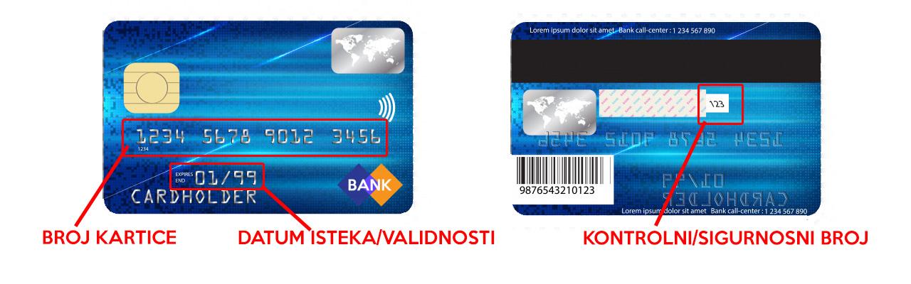 Uputa za plaćanje karticom